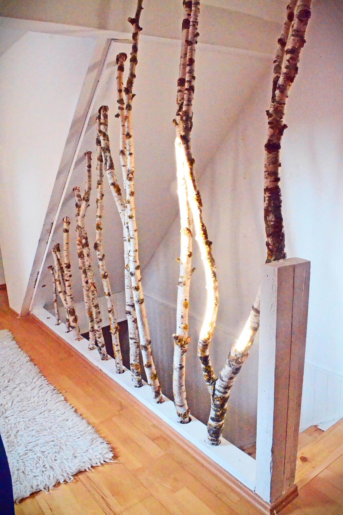 Birch Wood Stair Banister