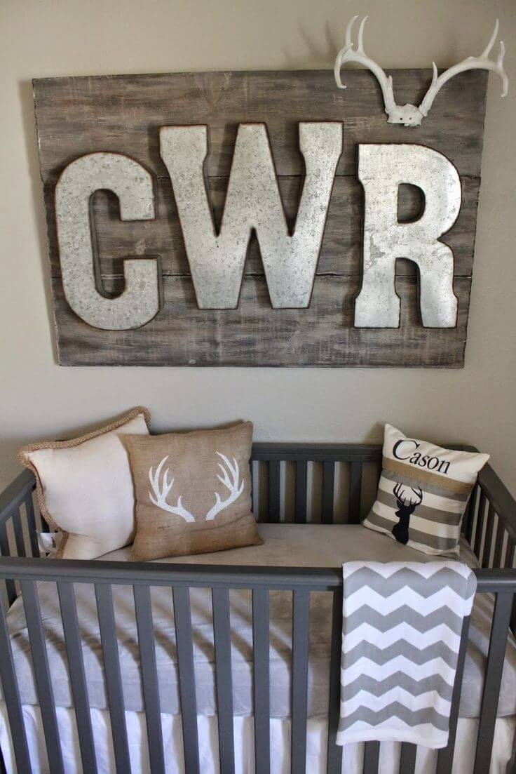 Monogrammed Wall Art Gets a Bold Update