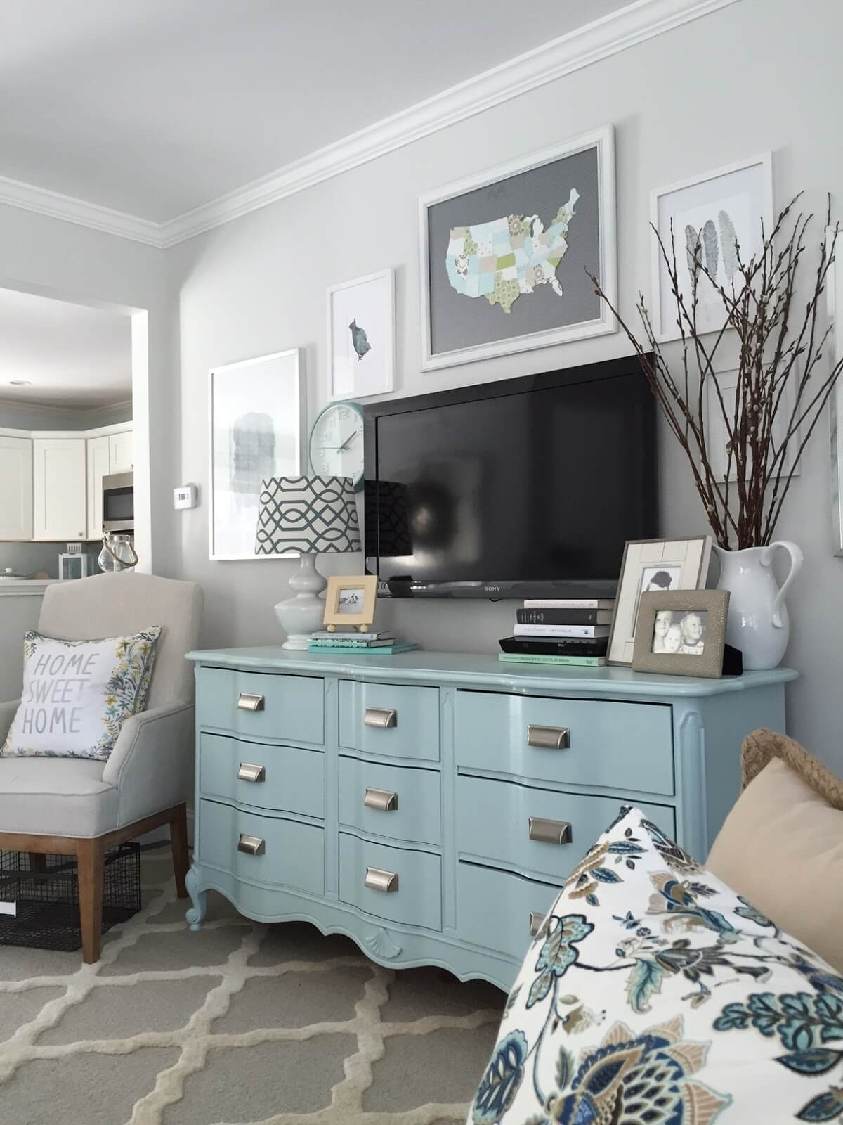 Blue Accents are a Low-Commitment Way to Update Décor