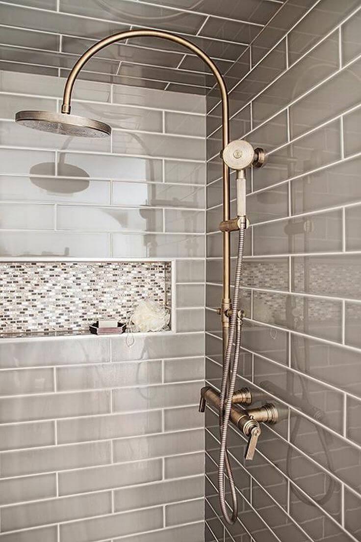 Slate and Sky Brick And Miniature Shower Tiles