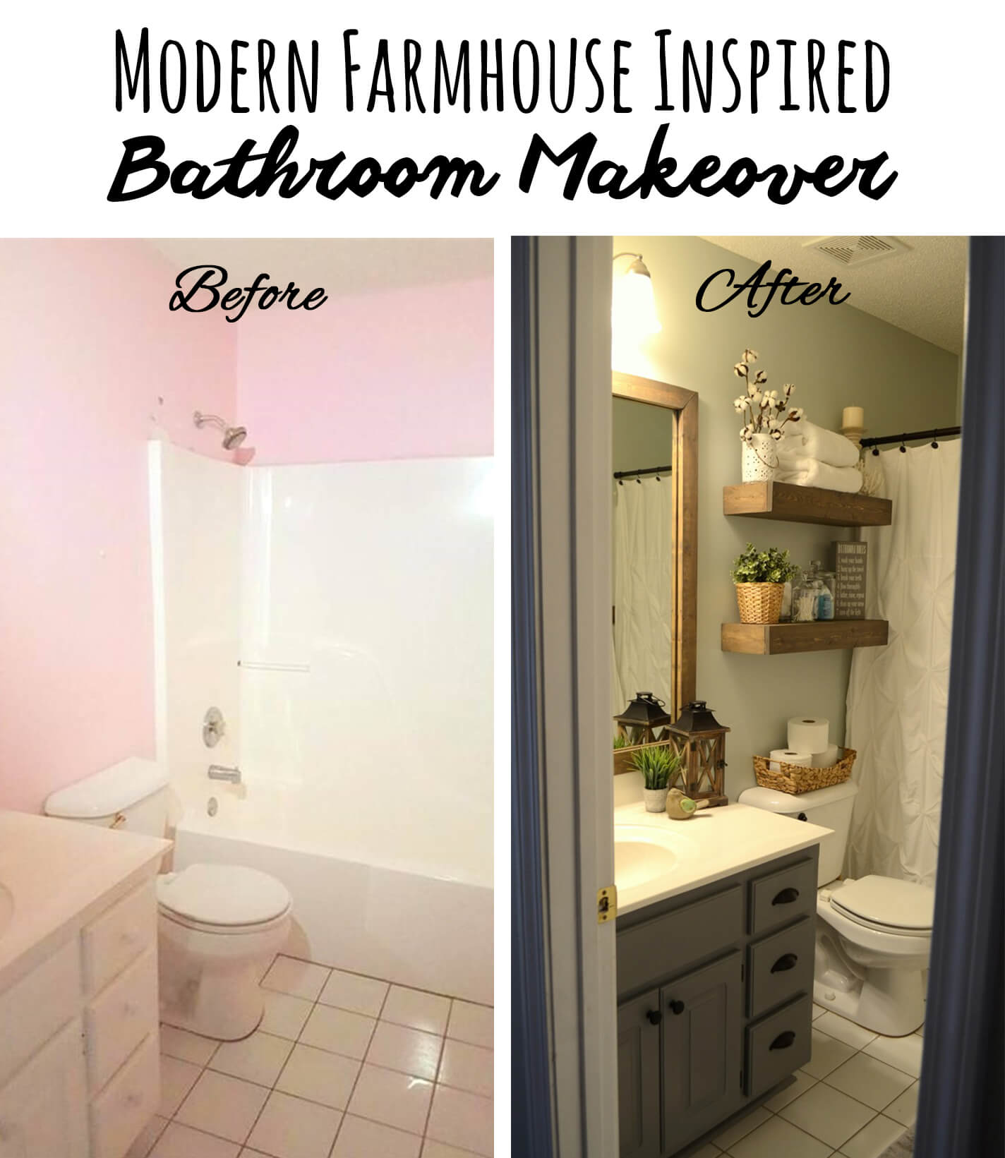 28 Best Budget Friendly Bathroom Makeover Ideas And Designs For 2020