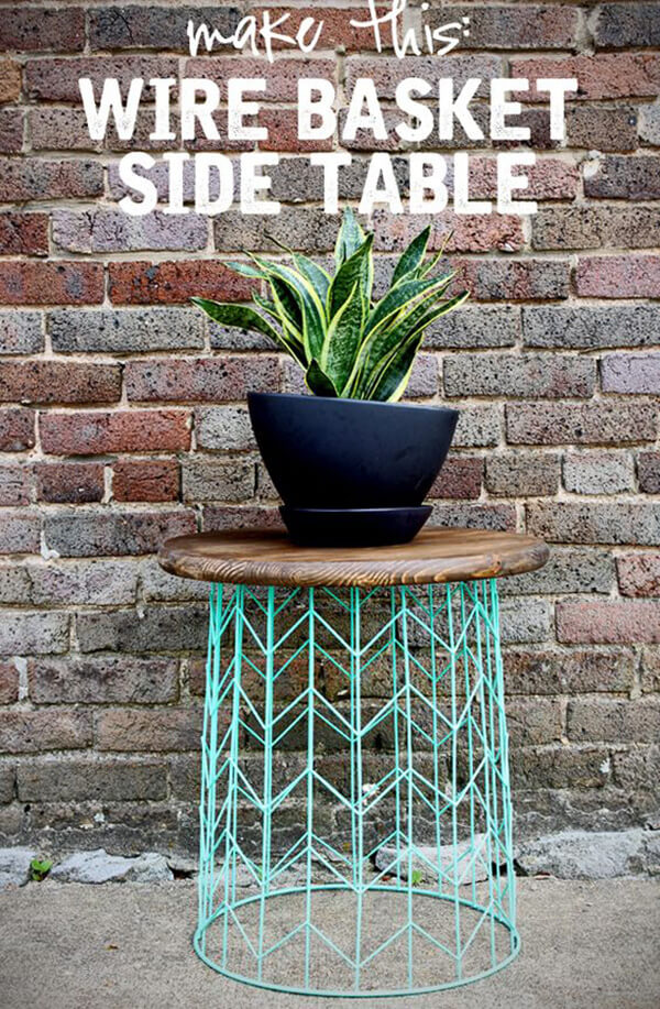 Basket Case Repositioned Side Table