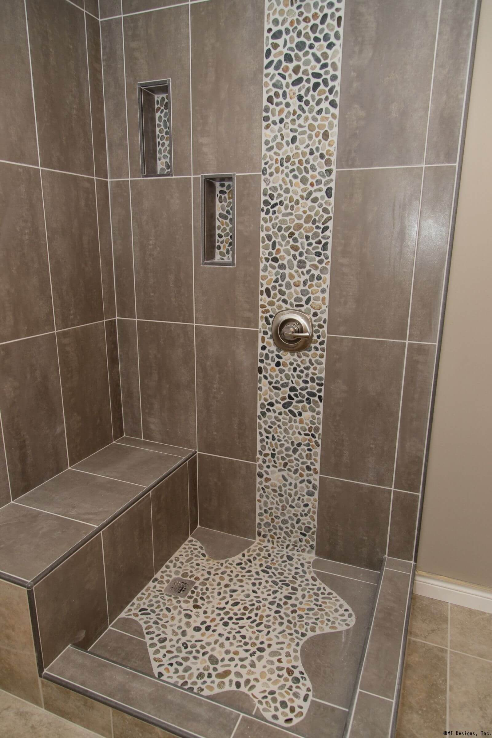 Bathroom shower floor tile ideas bathroom design ideas for Designer bathroom flooring