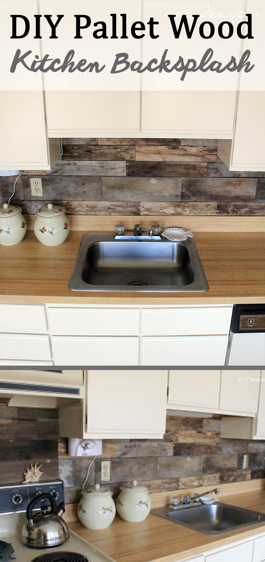 Choose Pallet Wood For A Unique Rustic Backsplash