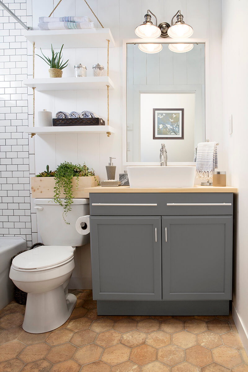 Diy Bathroom 25 Best Diy Bathroom Shelf Ideas And Designs For 2017