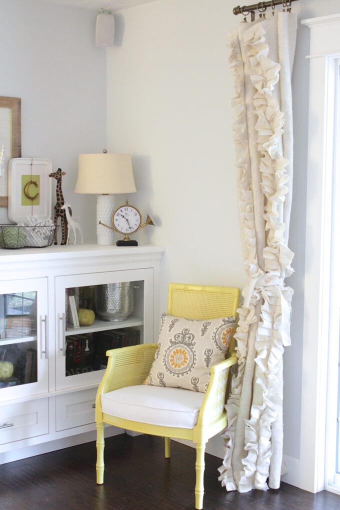 Add Some Pretty Ruffles to Update Curtains