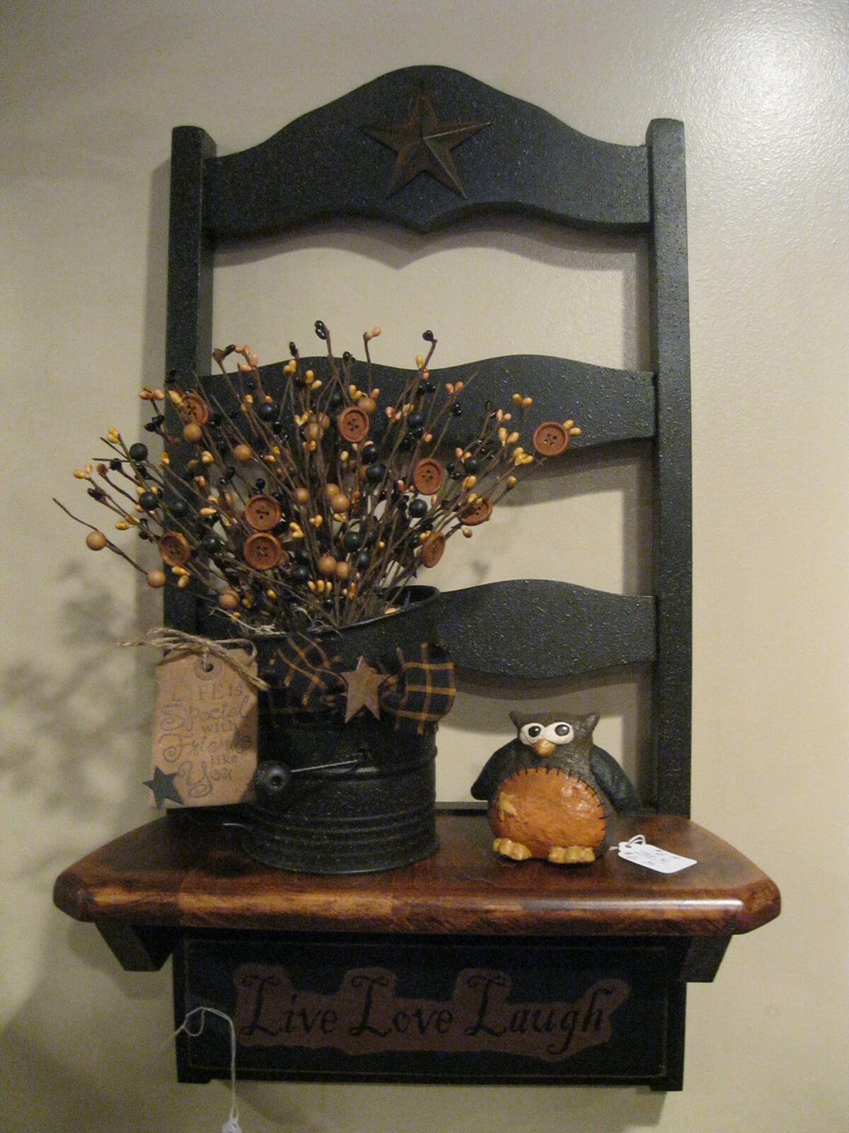A Mantle with Flowers and an Owl