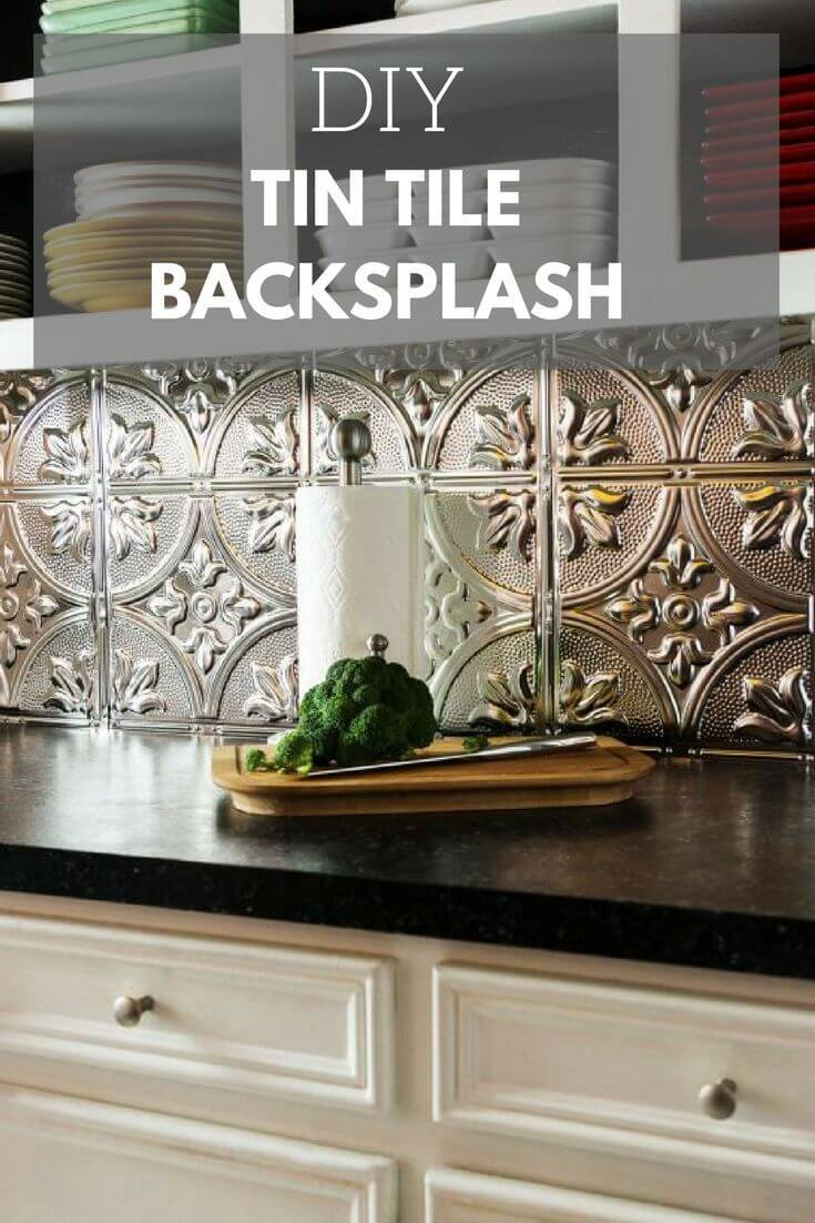 25 best diy kitchen backsplash ideas and designs for 2017 for Cheap diy kitchen backsplash ideas