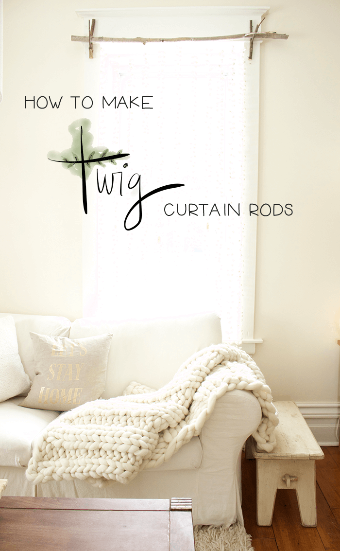 Simply Chic DIY Twig Curtain Rods
