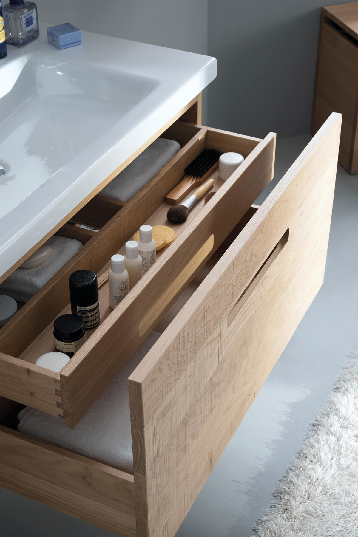 Forget Messy Makeup Baskets and Go for Custom Storage