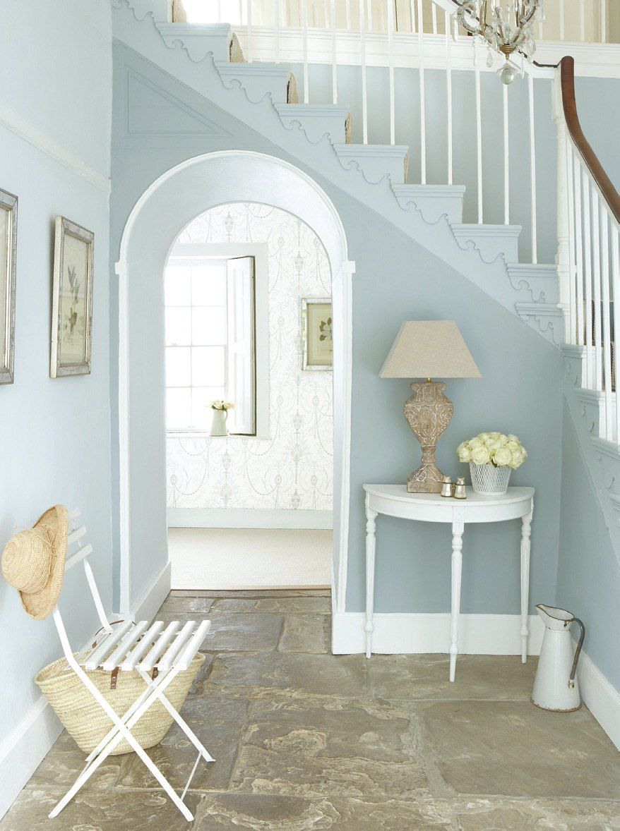 Lovely Blue Accents With Clean Neutrals