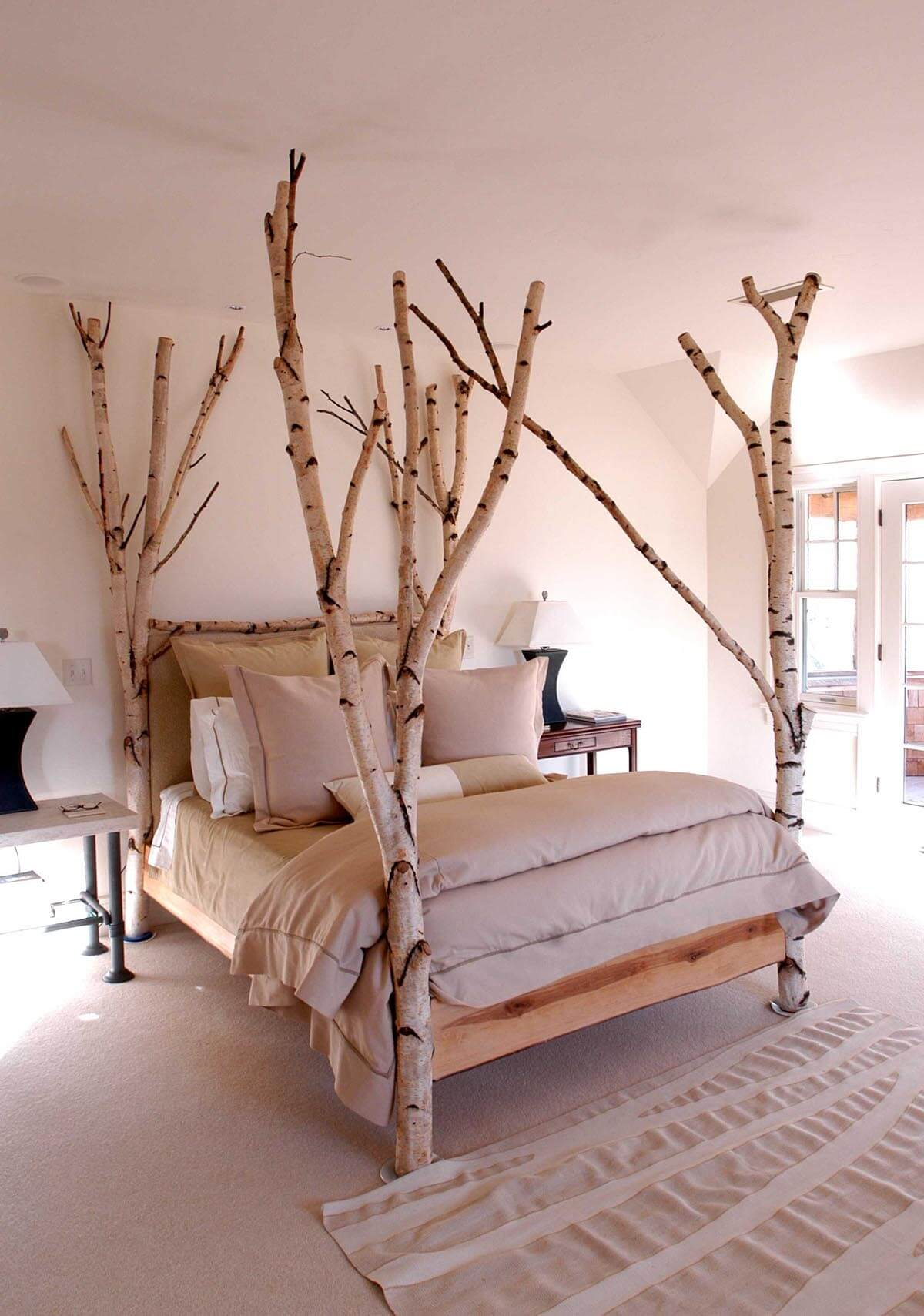 Scandinavian Forest Four-Poster Bed