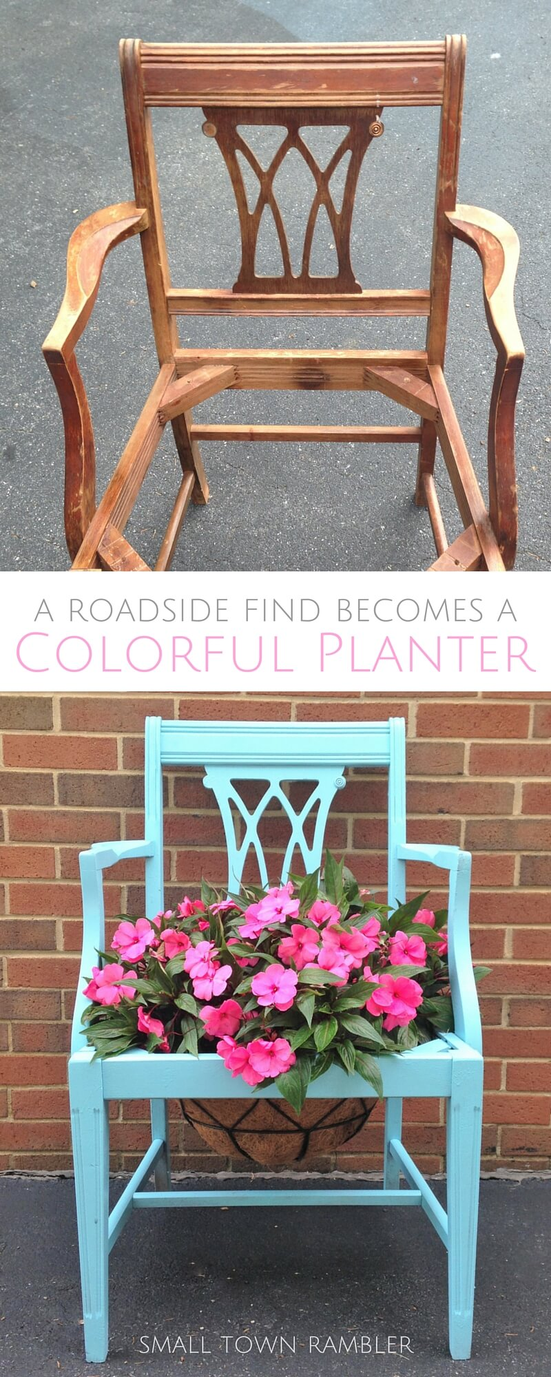 A Brightly Painted Planter for Your Garden