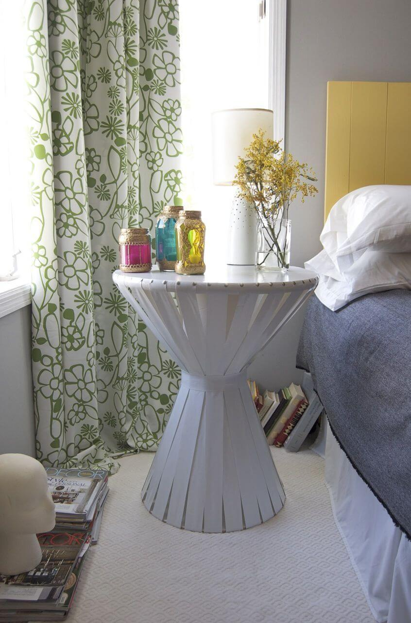 Caribbean Drum Style Side Table