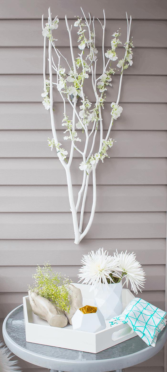 Poet's Garden Floral Branch Wall Hanging