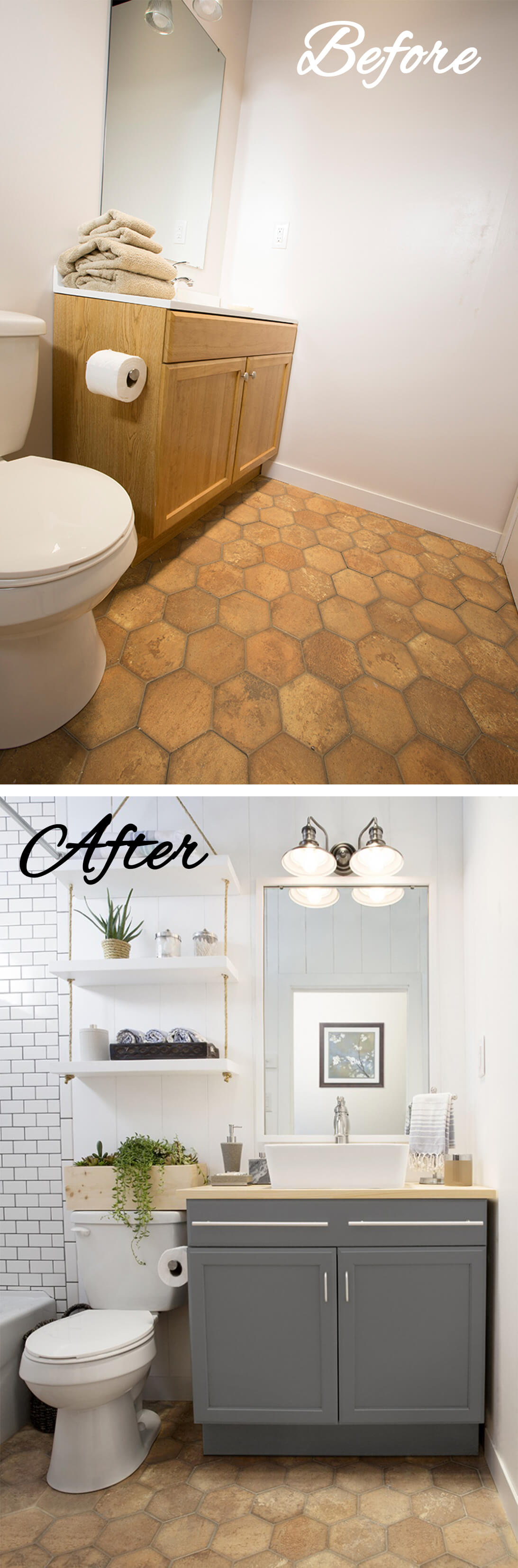 Work Around Funky Flooring with Color Choice