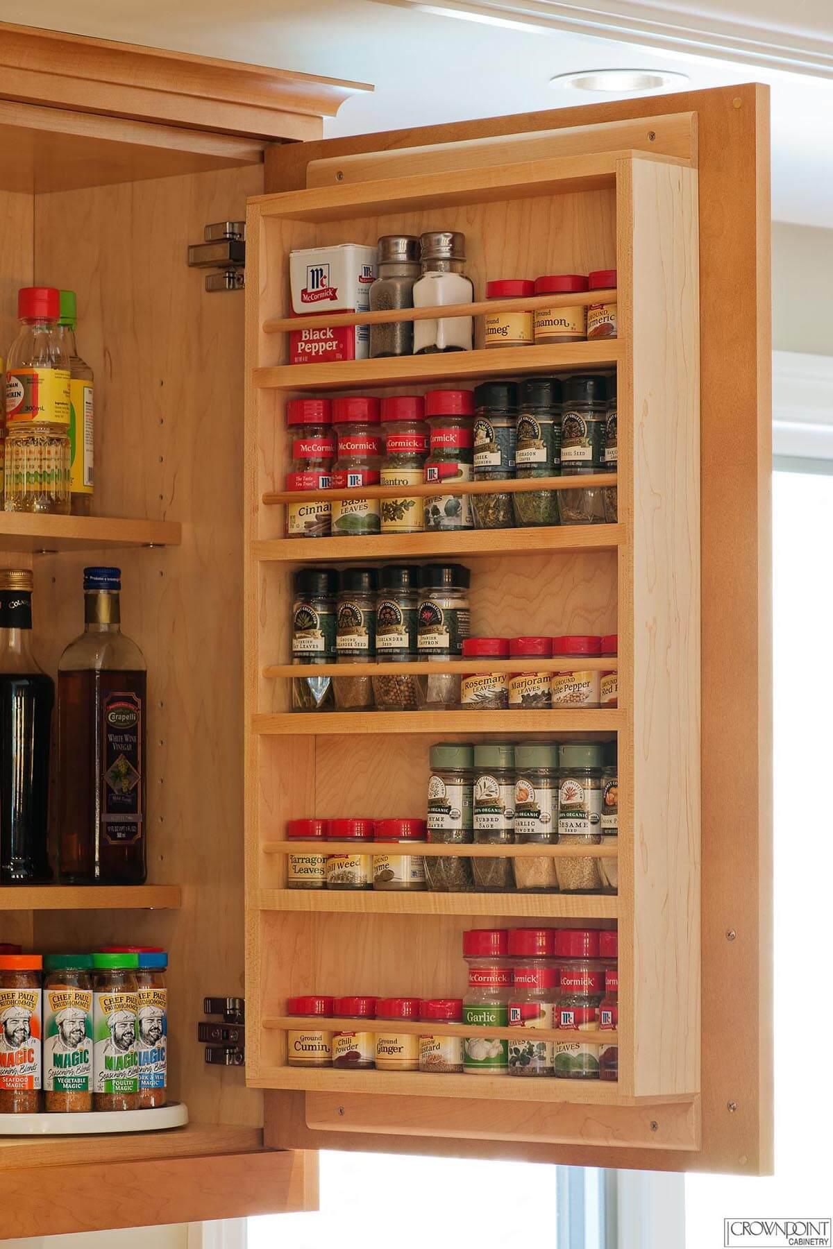 Don't Waste Cabinet Door Space
