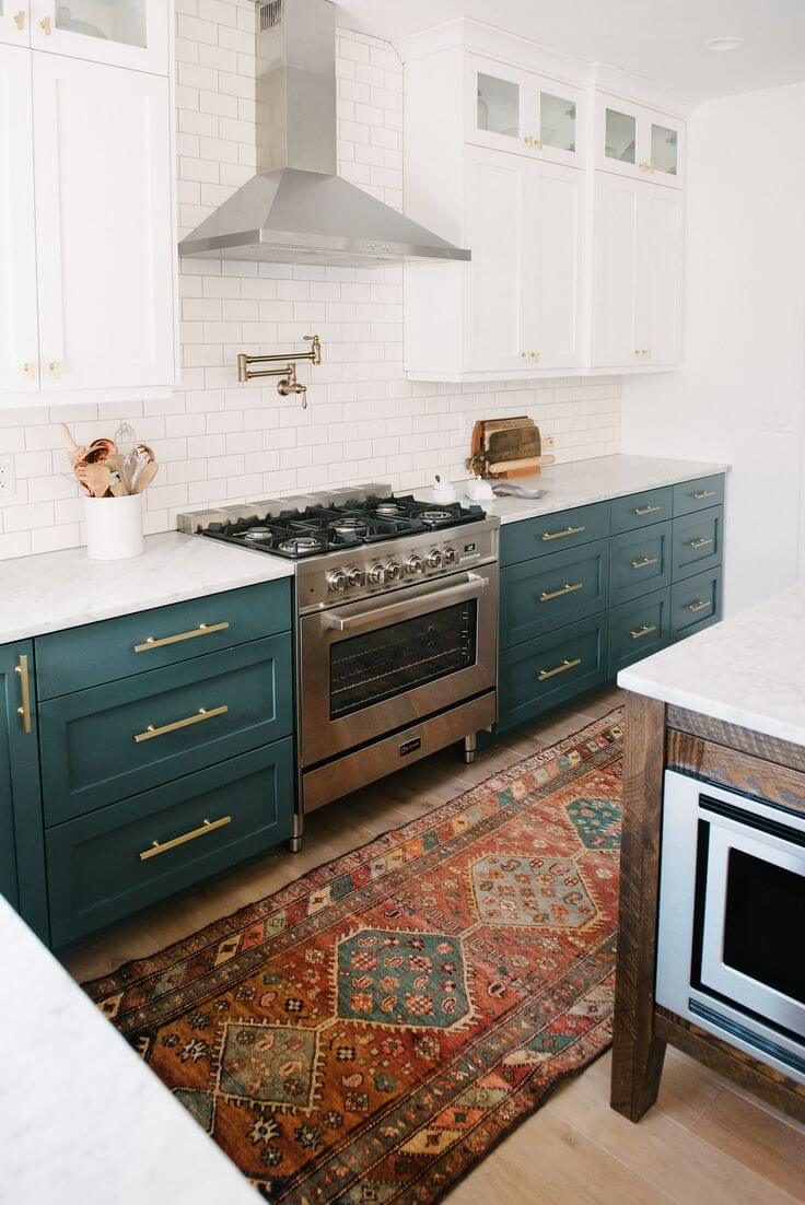 23 best kitchen cabinets painting color ideas and designs for Best kitchen rug ideas
