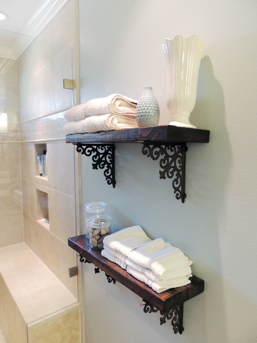 25+ best diy bathroom shelf ideas and designs for 2018 Bathroom Shelf Ideas
