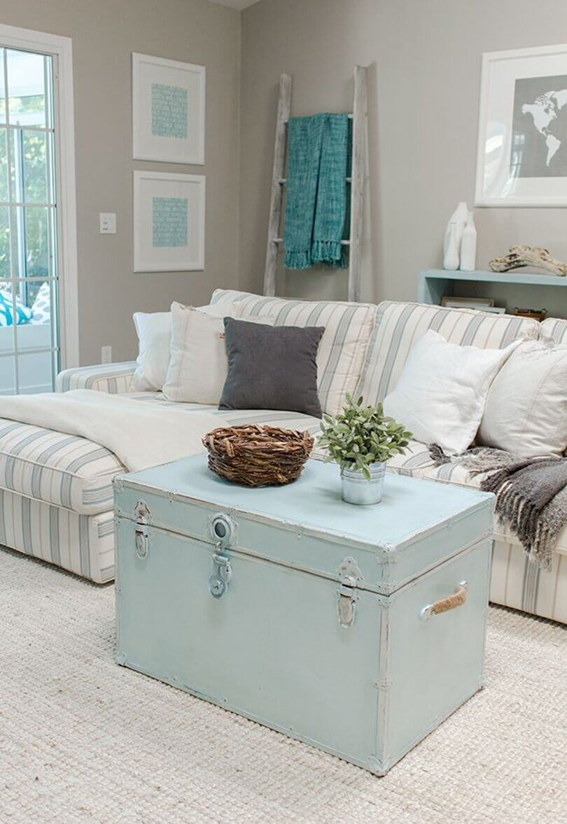 Paint Your Focal Piece in Blue