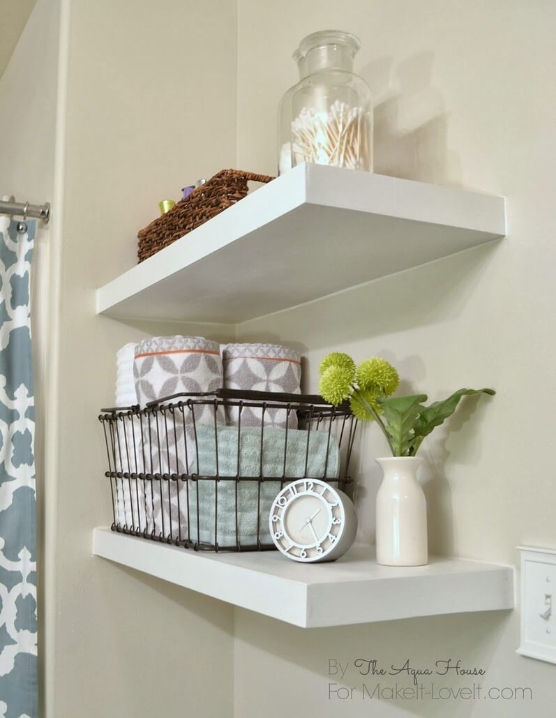 25 Best Diy Bathroom Shelf Ideas And Designs For 2019