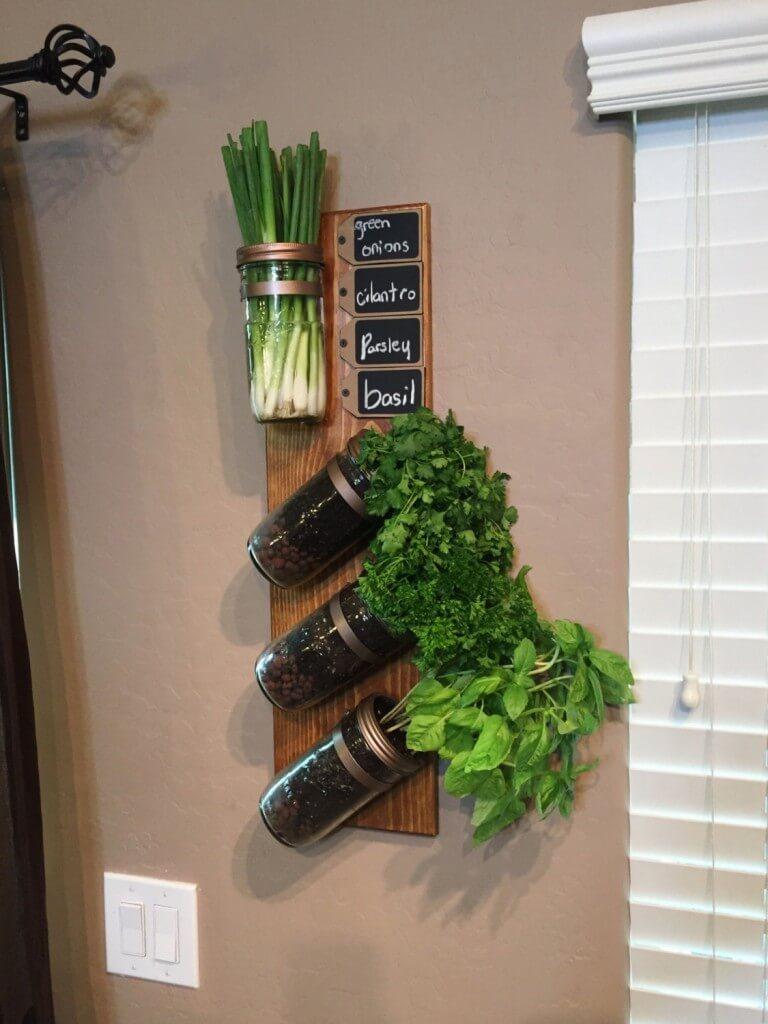 Hanging Jar Herb Garden With A Twist