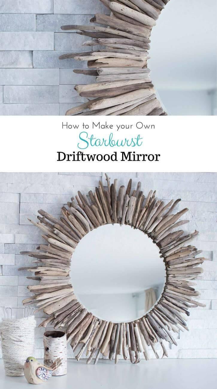 La Mer Handmade Driftwood Mirror