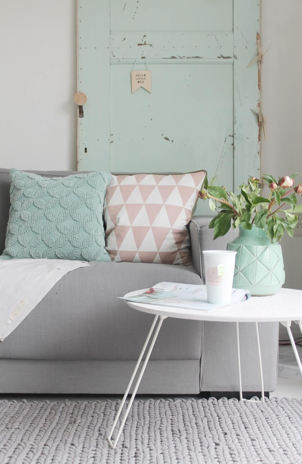 Pillows and Vases are Easy Ways to Add Blue Highlights