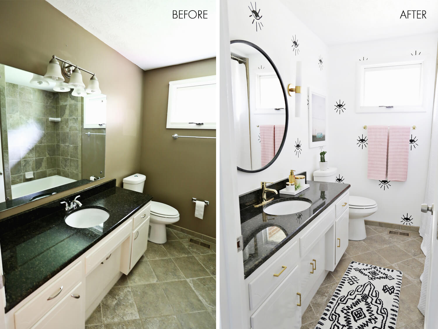 28 best budget friendly bathroom makeover ideas and for Bathroom renovation before and after