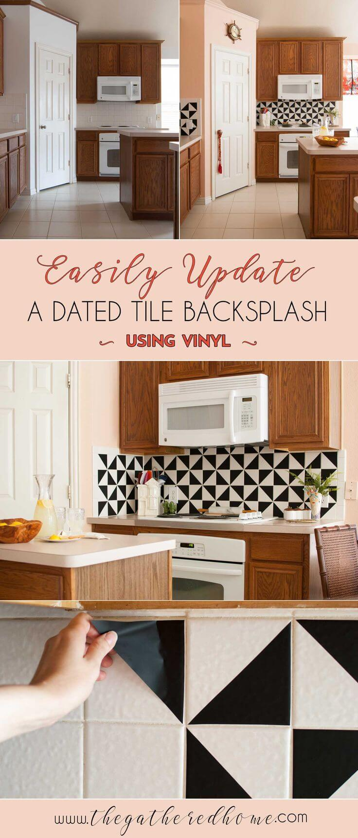 Kitchen backsplash ideas diy 17 cool cheap diy kitchen for Cheap diy kitchen backsplash ideas
