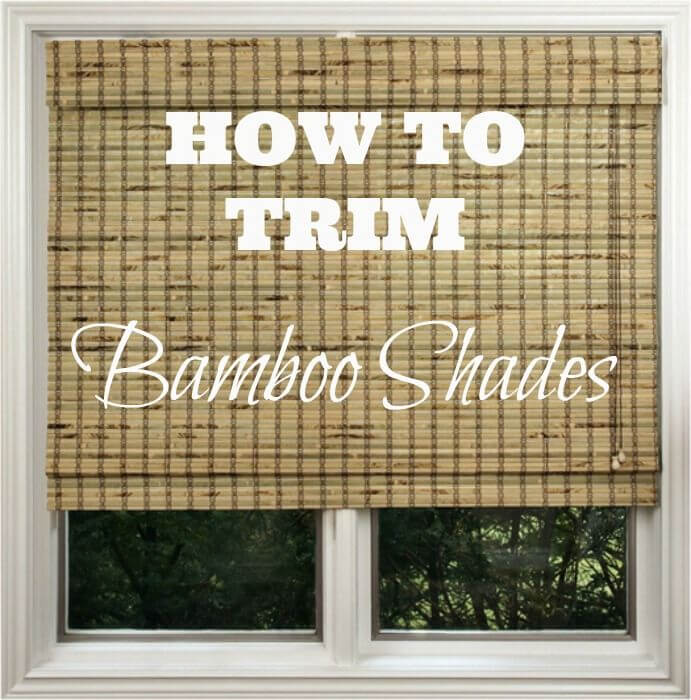 Store-bought Bamboo Shades Can Be Customized