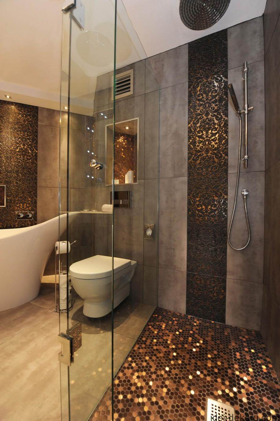 revamp cave showers tiles stone tile fashion to after your shower dark