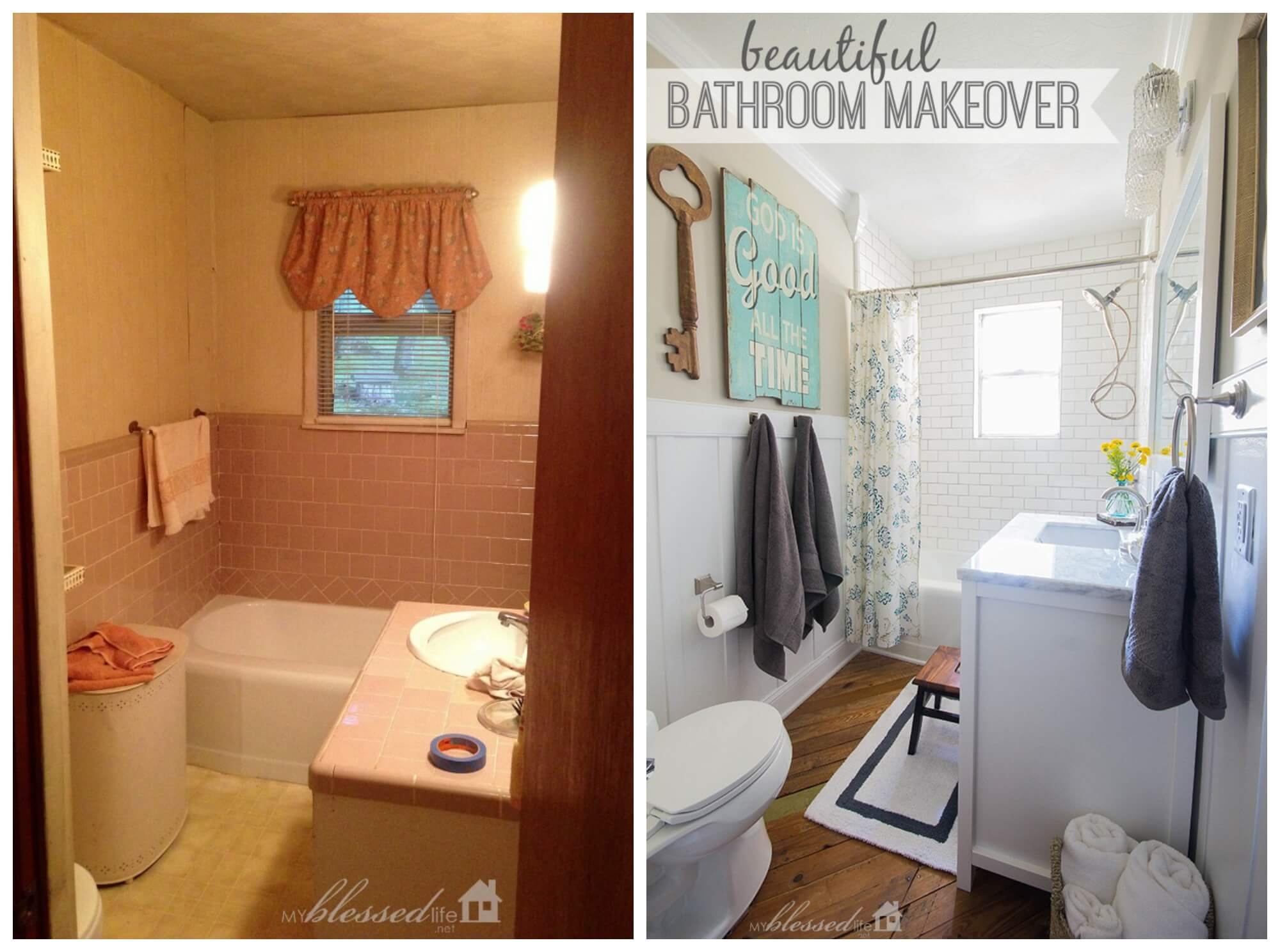 28 best budget friendly bathroom makeover ideas and designs for 2017 Cheap bathroom remodel before and after