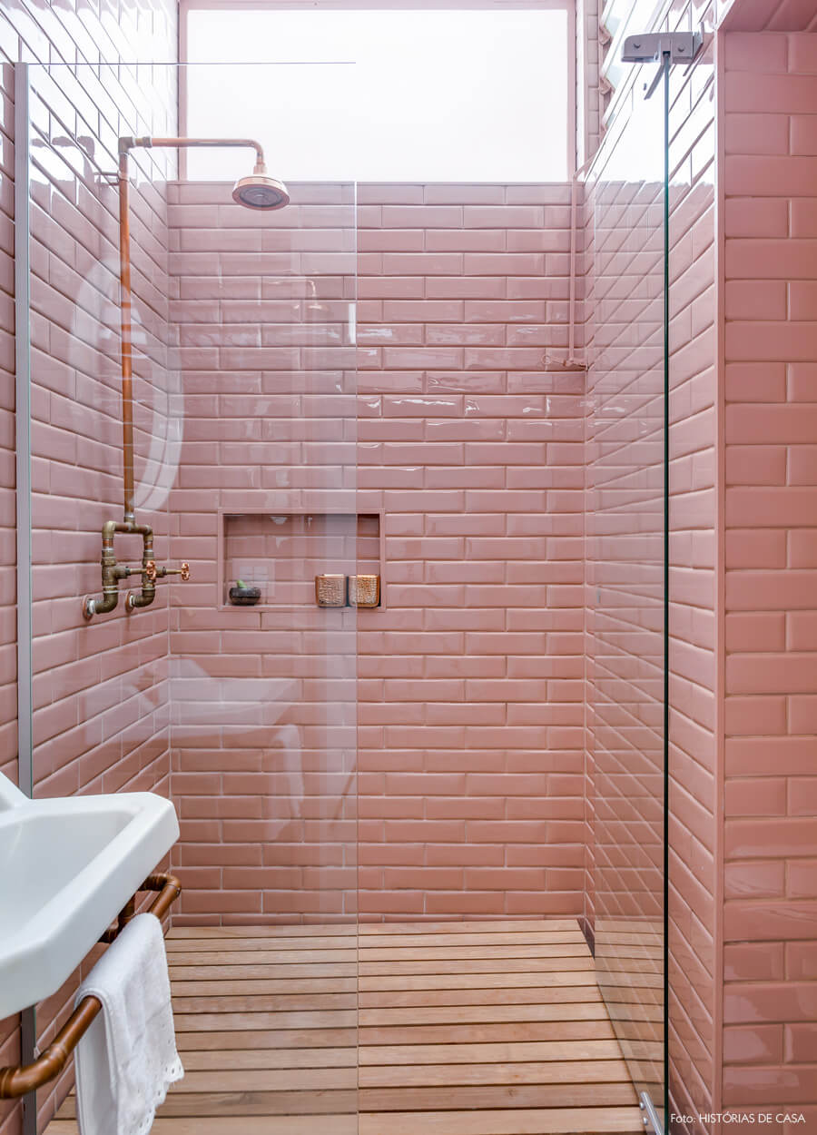 Industrial Fusion Shower Tile Ideas
