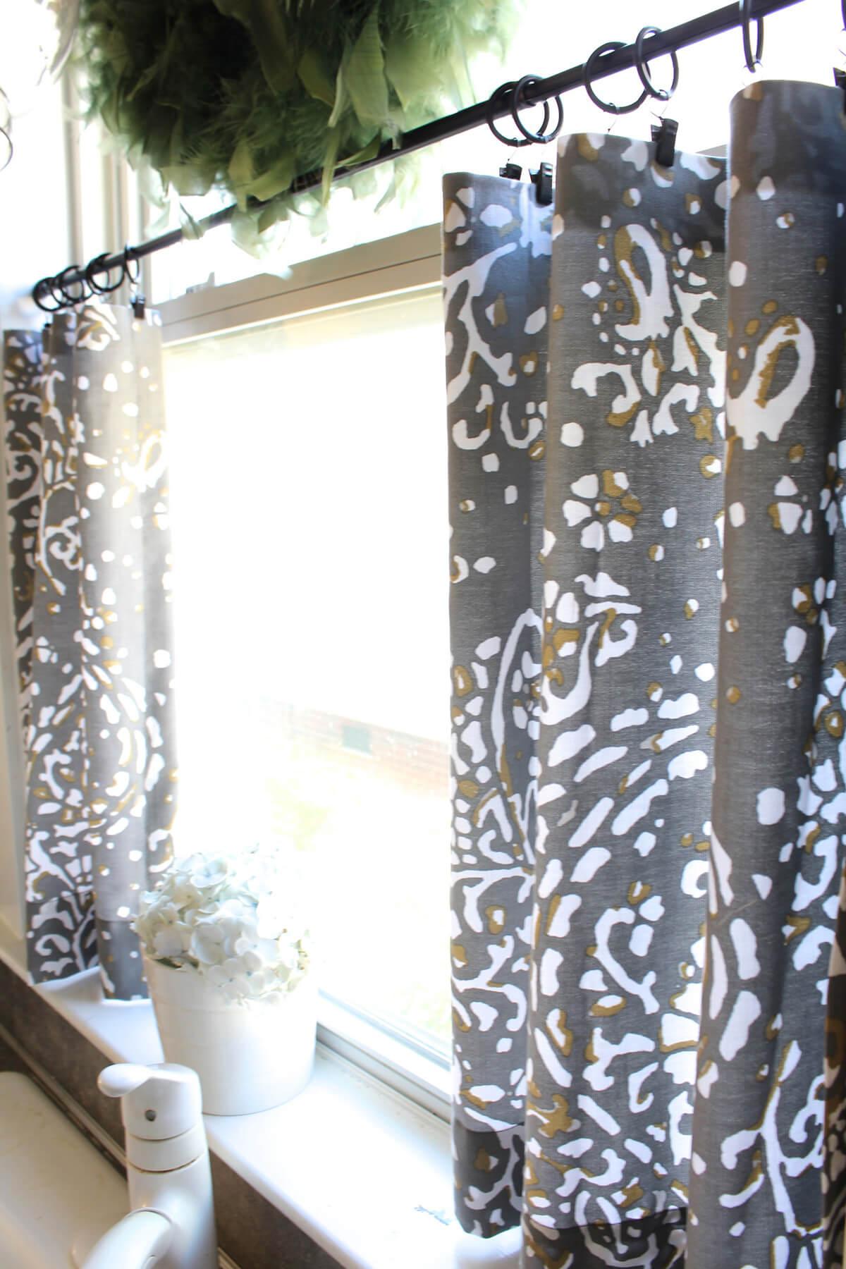 Change Café Curtains for a Quick Update