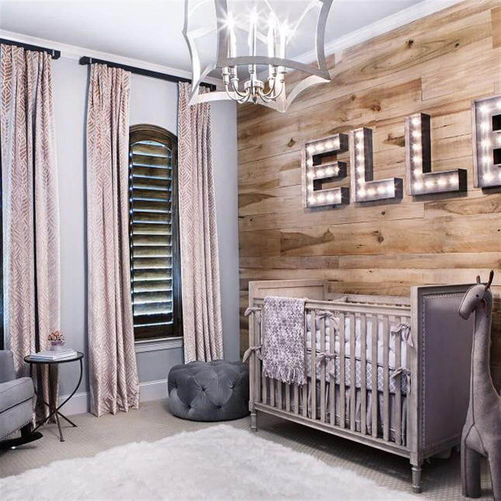 Bold Lighting and Accent Wall for Nursery Wow