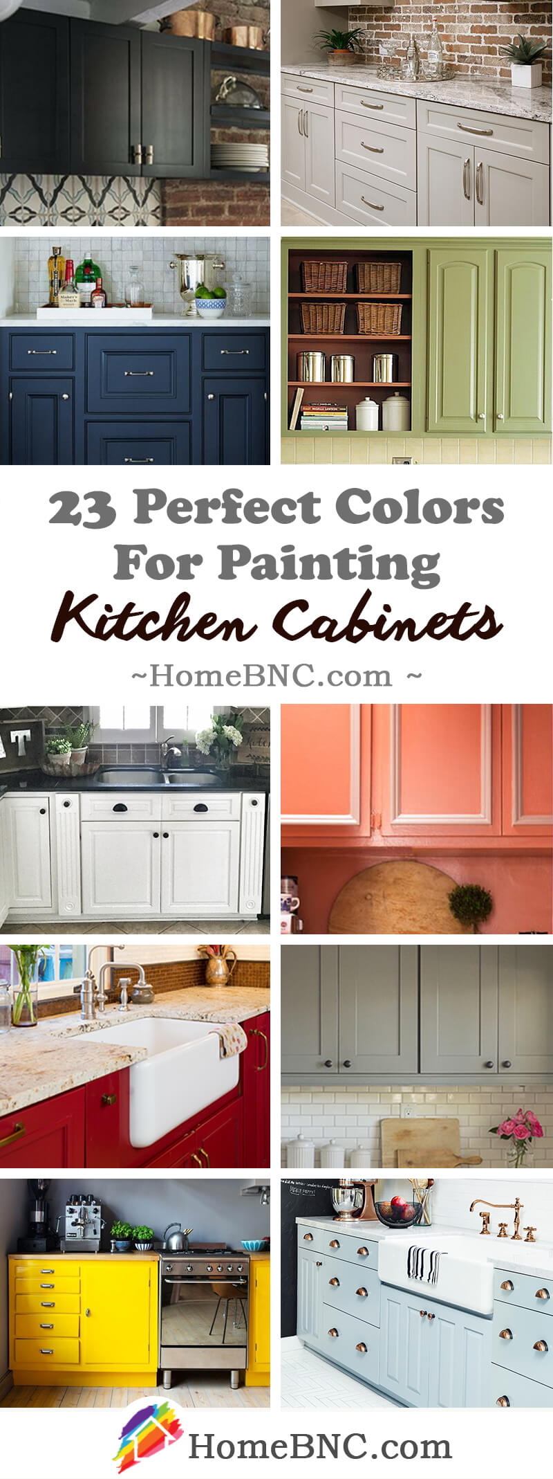 23 best kitchen cabinets painting color ideas and designs for Perfect kitchen colours