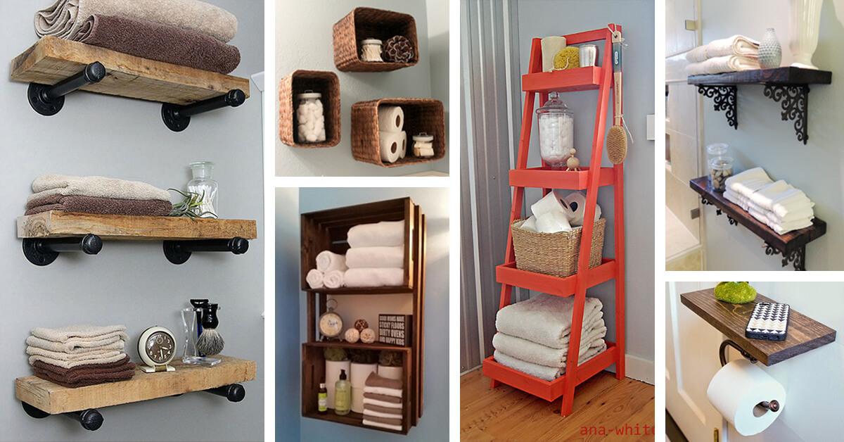 25 Best Diy Bathroom Shelf Ideas And Designs For 2021