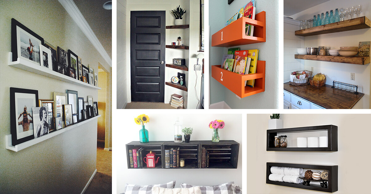 diy floating shelf ideas featured homebnc