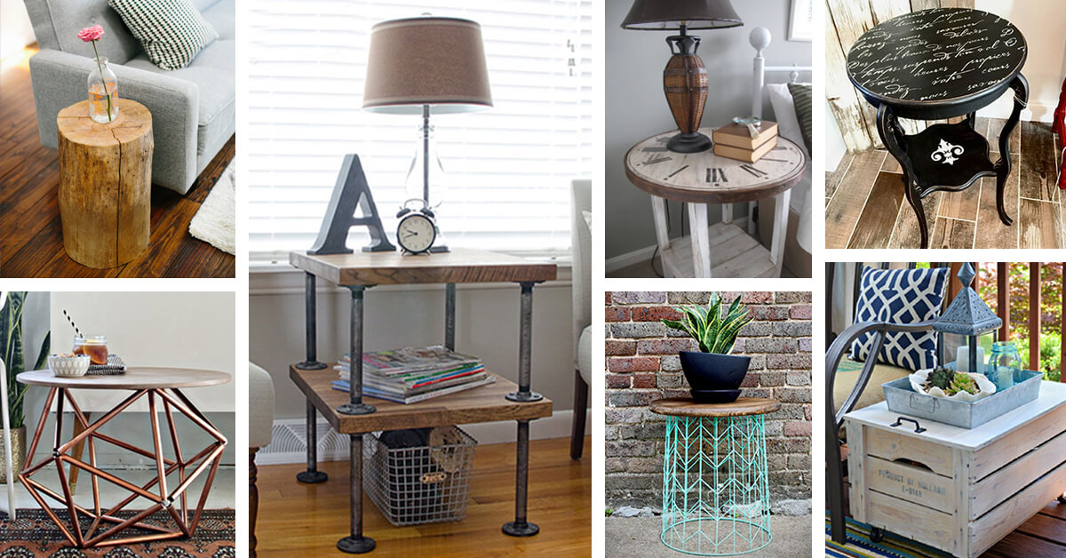 Simple Side Table Ideas: 25+ Best DIY Side Table Ideas And Designs For 2017