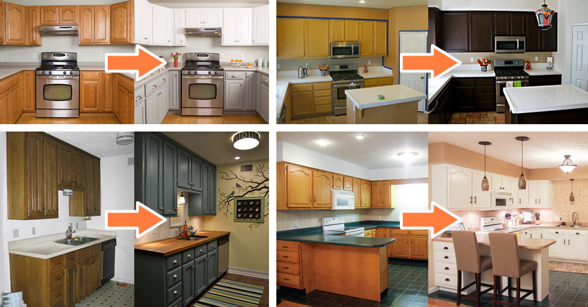 25 before and after budget friendly kitchen makeover for Cheap kitchen makeover ideas before and after