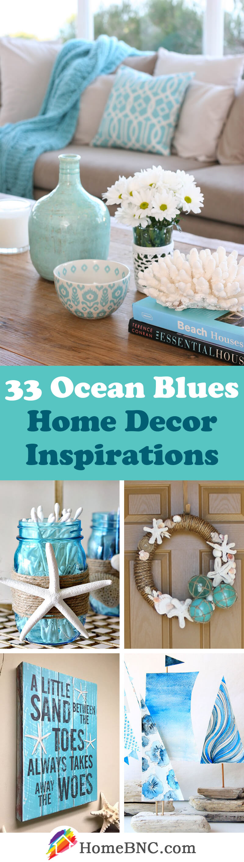 Ocean Blues Home Decor Inspiration Projects