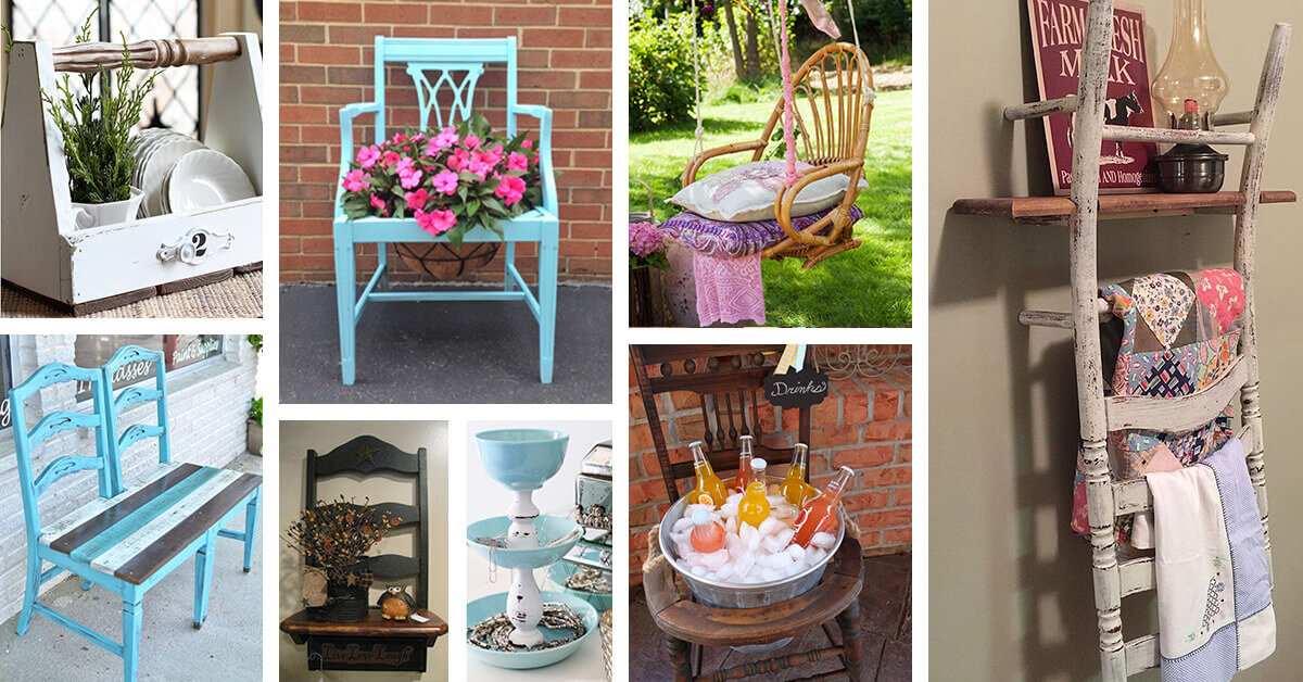 24 Best Repurposed Old Chair Ideas And Designs For 2020