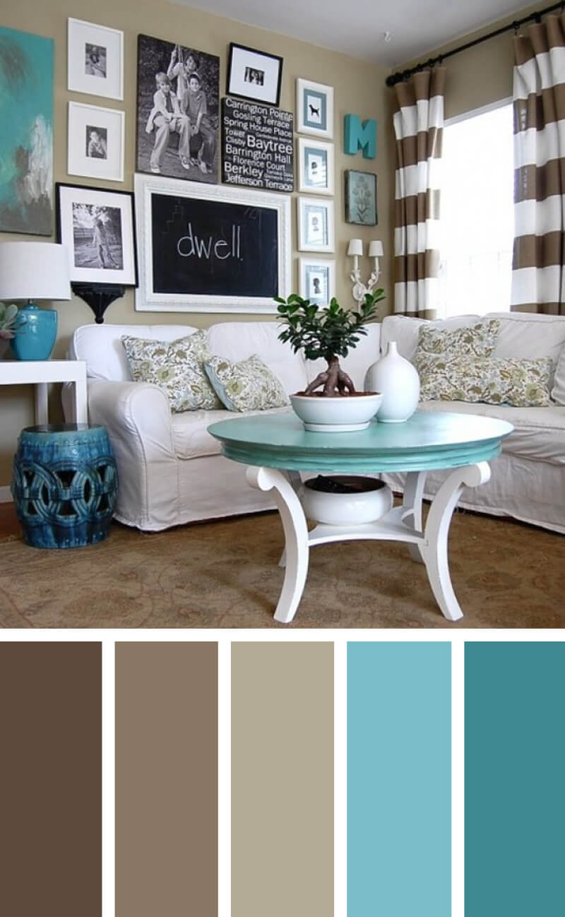 11 best living room color scheme ideas and designs for 2017 for Colour shade for living room