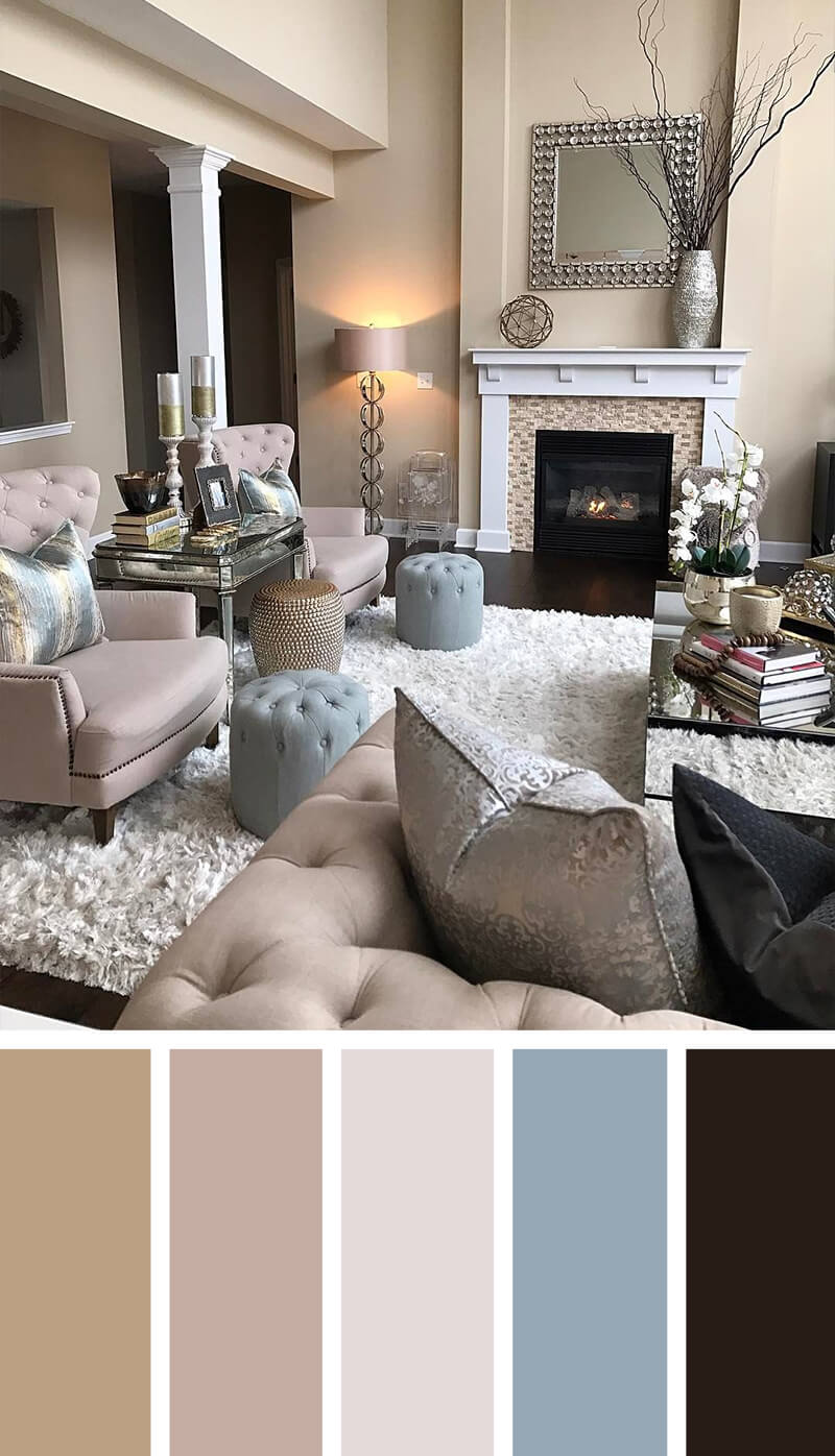 11 best living room color scheme ideas and designs for 2017 for Room design color combinations