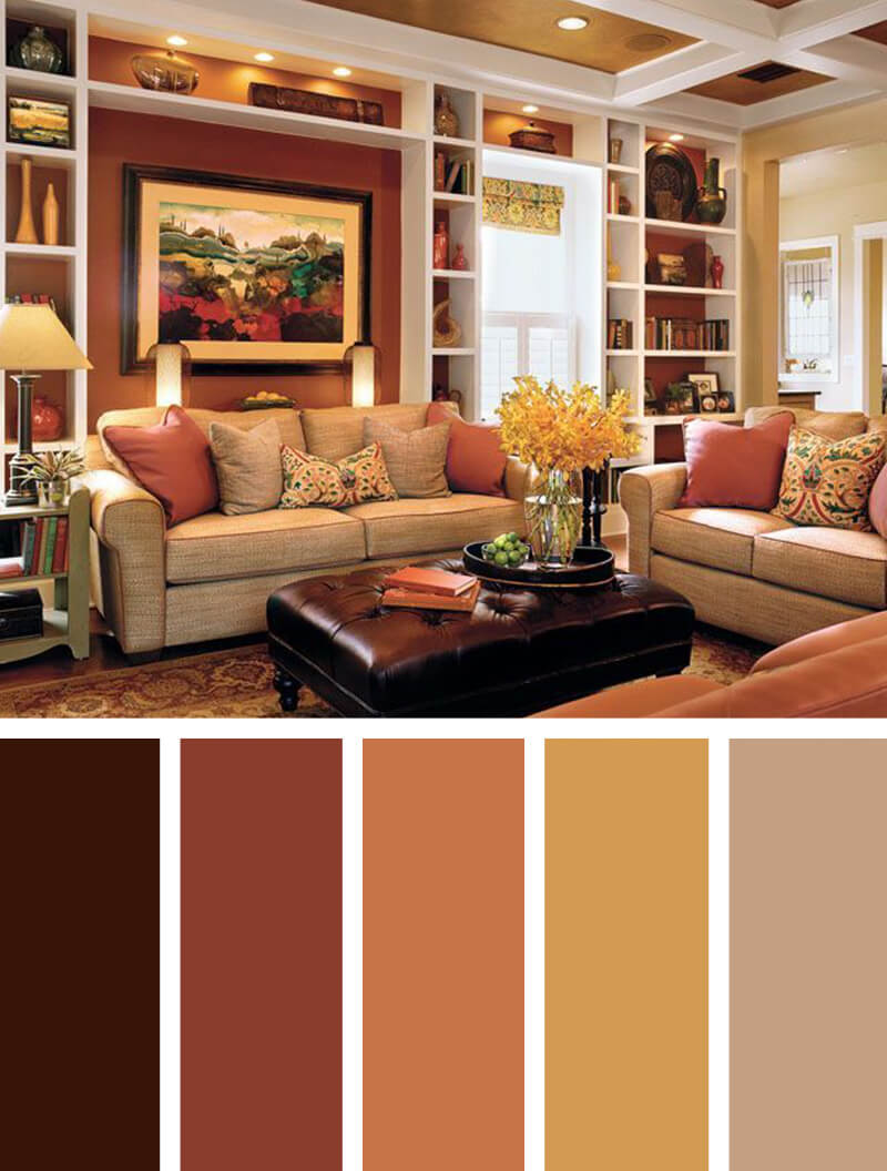 5 harvest spice and everything nice living room color for Living room color combination ideas