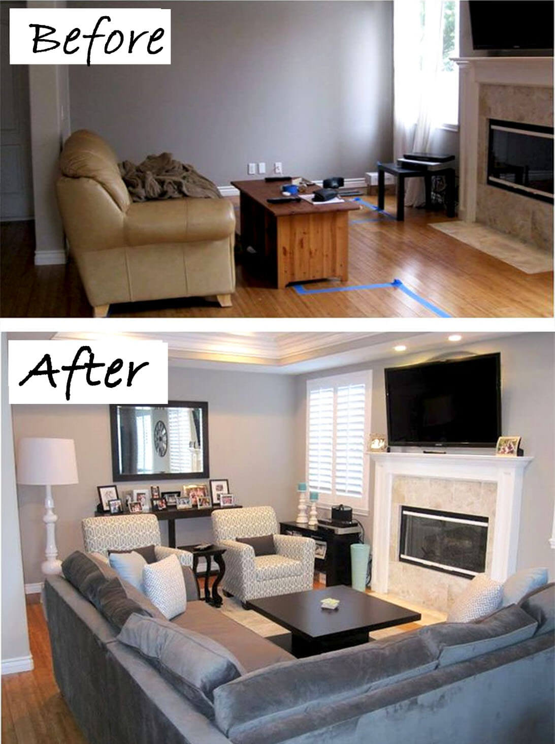 before and after living rooms 26 best budget friendly living room makeover ideas for 2017 18143