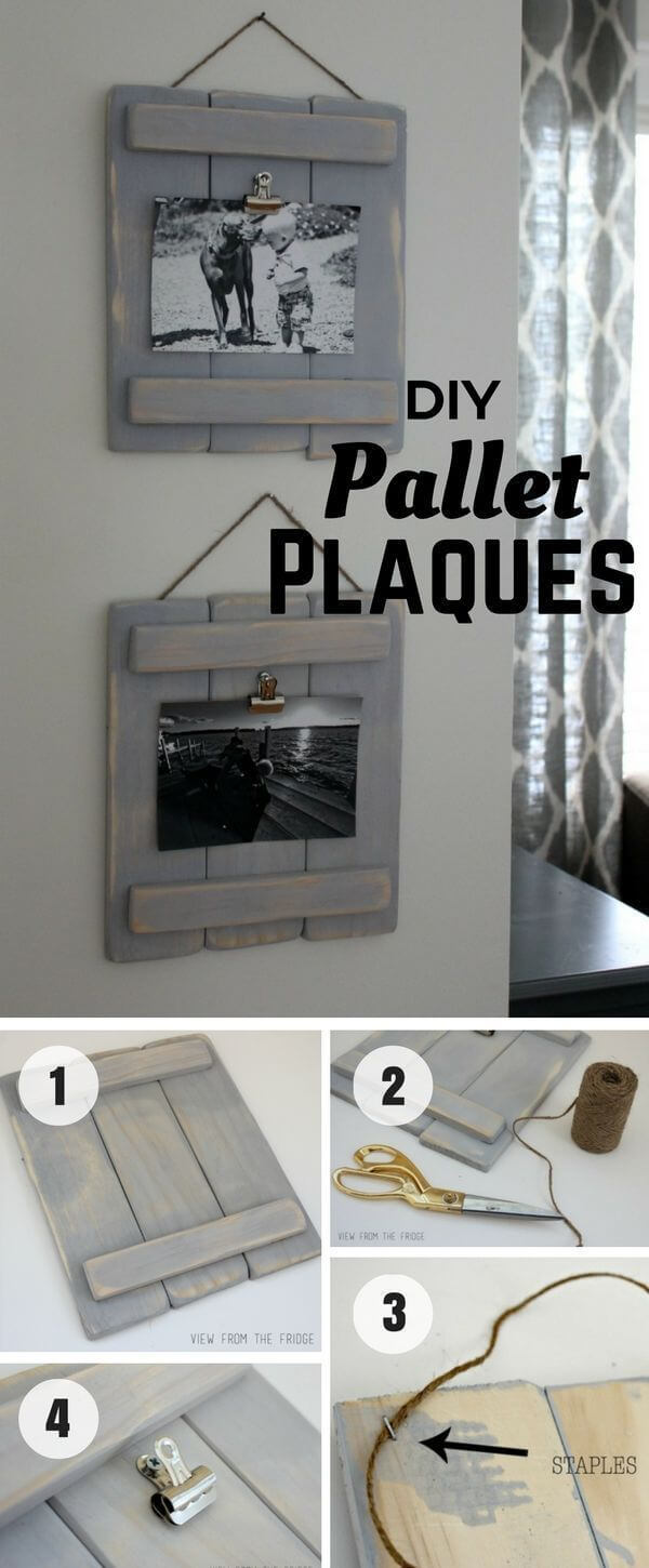 Easy Pallet Plaques Perfect for Picture Display