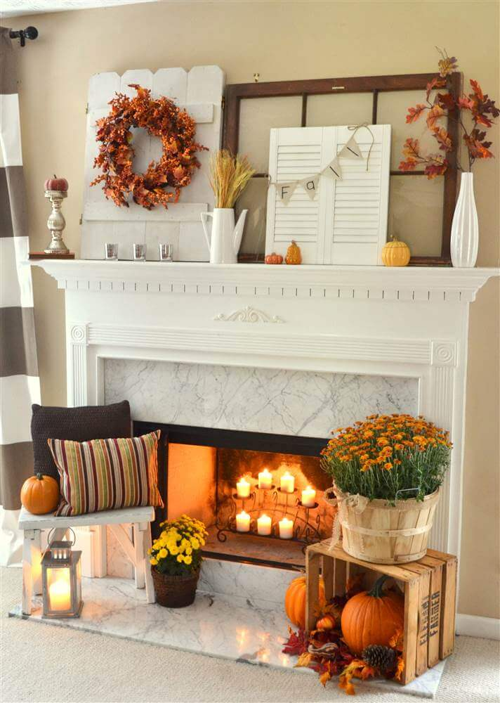 fall decorating farmhouse designs warm hues fireside means homebnc