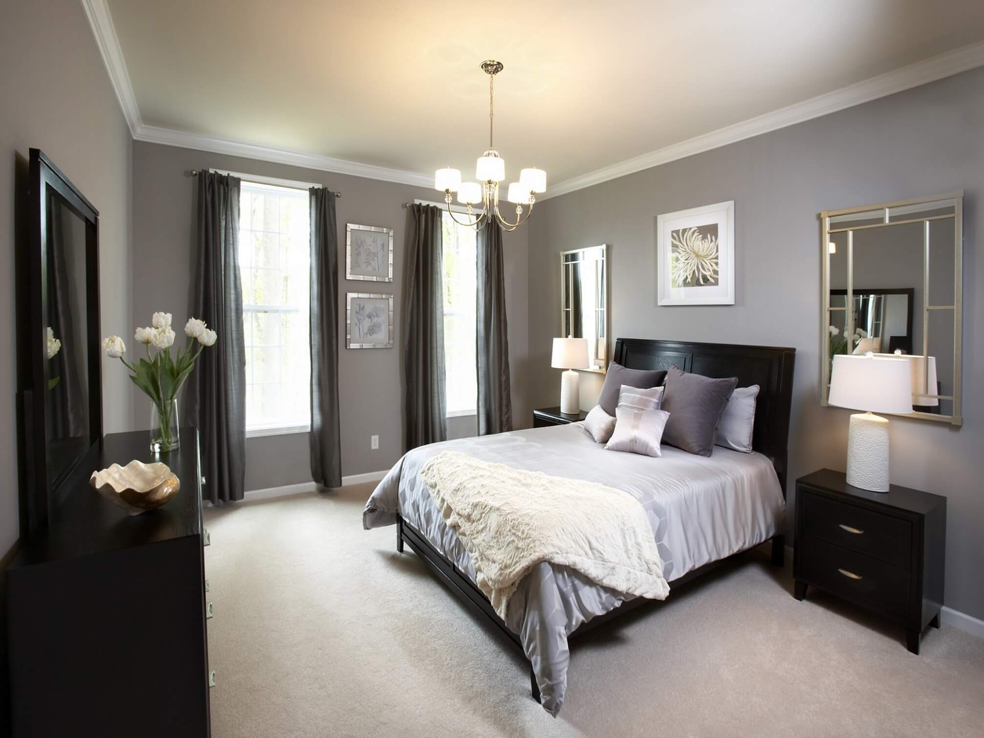 A Crisp And Cly Design Bedroom With Clean Black Cool Shades Of Grey